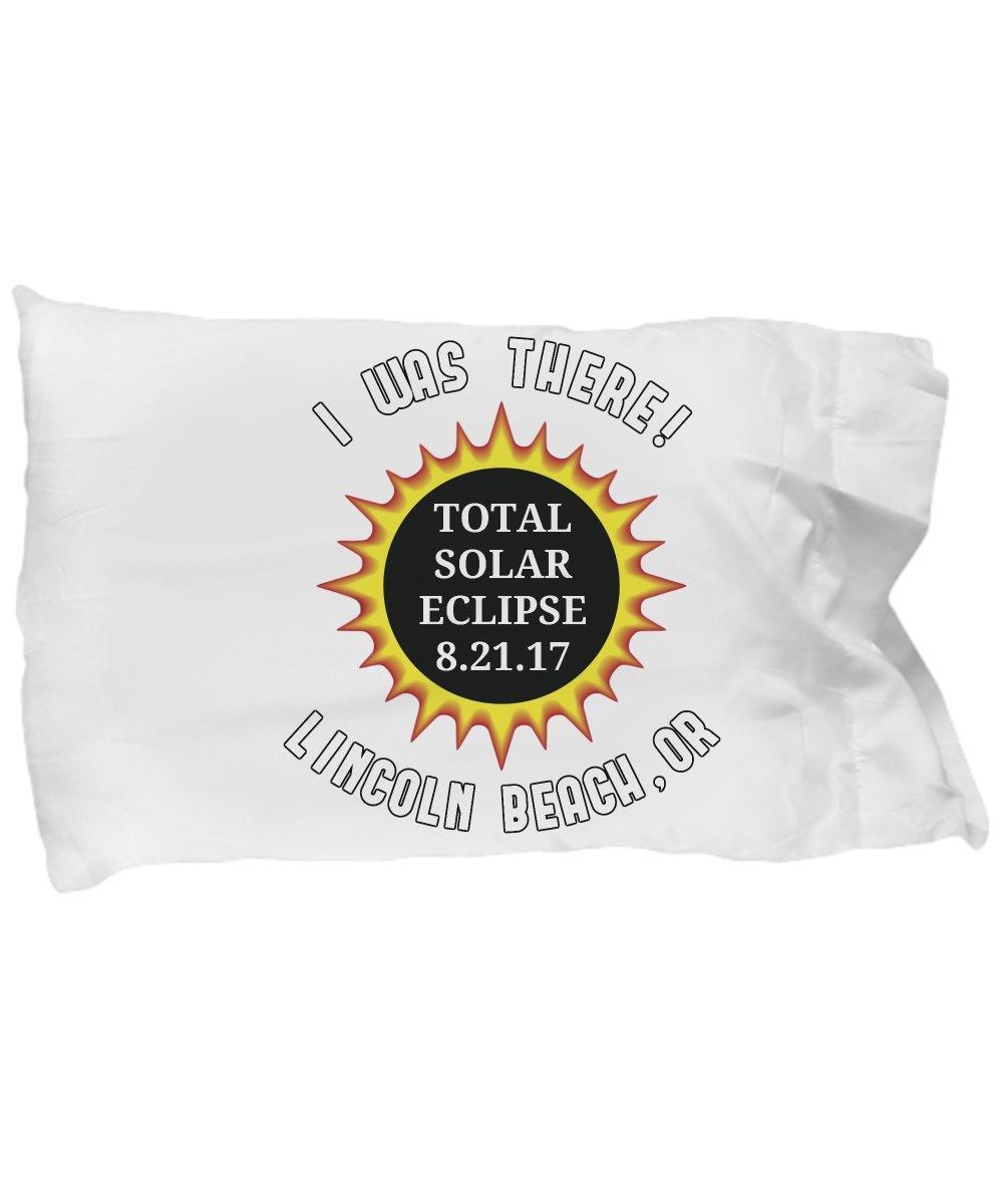 Total Solar Eclipse-Lincoln Beach Oregon 2017 Commemorative Pillow Case