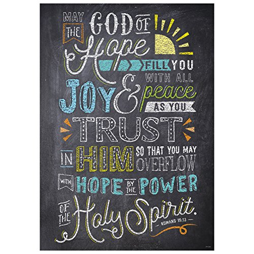 Creative Teaching Press Wall Décor, Religious Romans 15:13 Rejoice Inspire U Poster (2375)