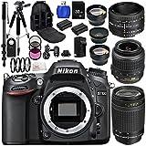 Nikon D7100 Digital SLR Camera With AF-S DX NIKKOR 18-55mm 1:3.5-5.6G VR, 70-300mm f/4-5.6G & 50mm f/1.8D Lenses. Includes: Wide Angle & Telephoto Lens, 3 Piece Filter Kit (UV-CPL-FLD), 4 Piece Macro Filter Set (+1,+2,+4,+10) & Much More