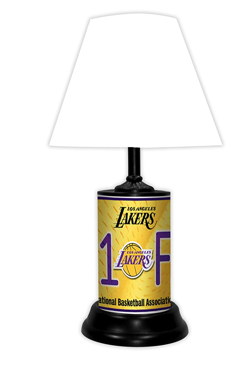 Lakers Lamp Desk//Table Lamp with White Shade