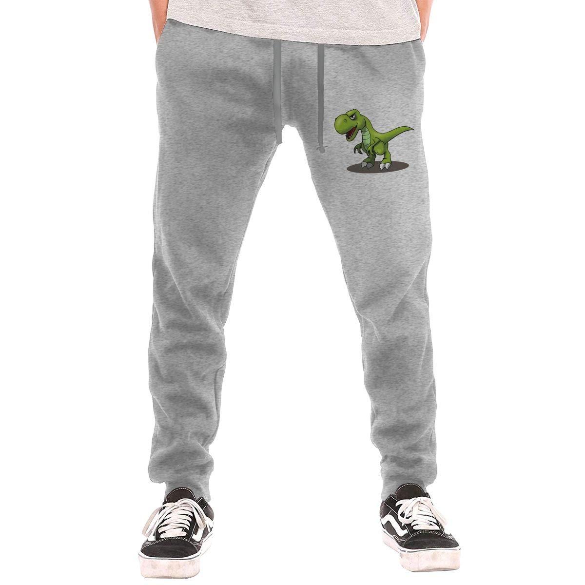 BInfef Cartoon Green Dinosaur Drawstring Waist,100/% Cotton,Elastic Waist Cuffed,Jogger Sweatpants