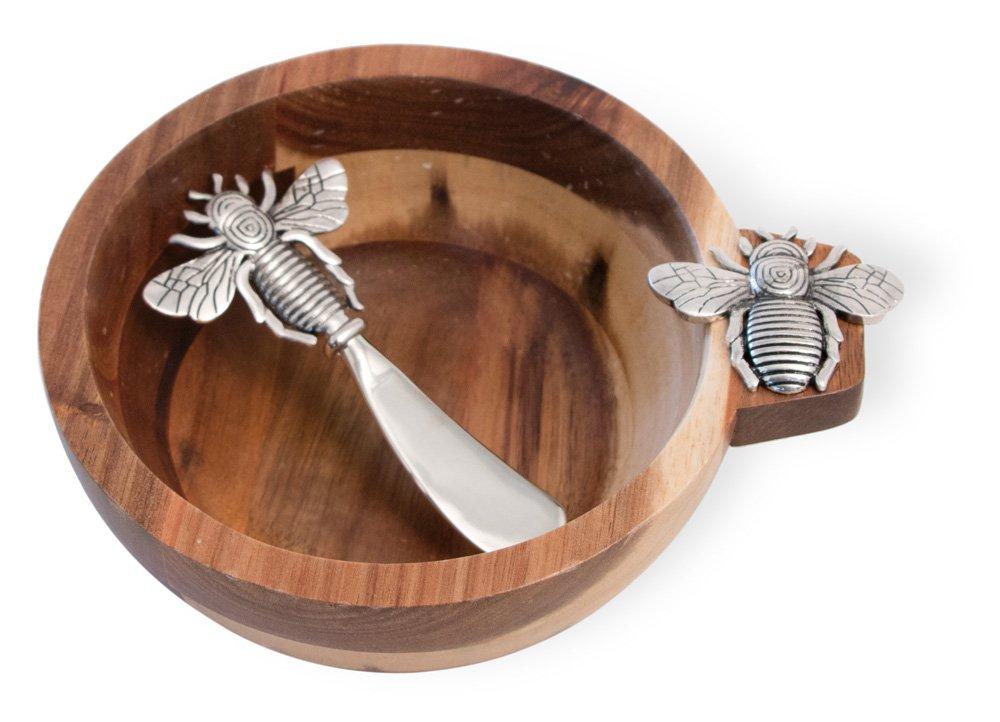 Boston International NOO18368 Celebrate the Home Bowl & Spreader 5.5-Inches Bumblebee Set