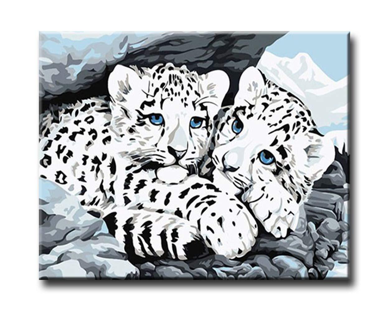 Shukqueen - Pintura al óleo para adultos, diseño de número Kits, acrílico, 40 x 50 cm, Frameless,Just Canvas