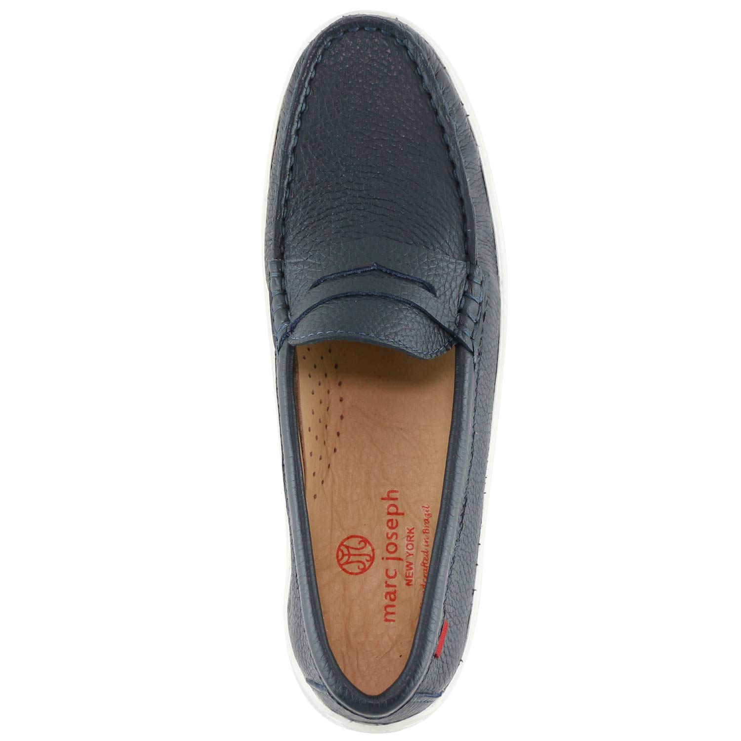 MARC JOSEPH NEW YORK Kids Boys/Girls Casual Comfort Slip On Penny Loafer Navy Grainy 5.5 by MARC JOSEPH NEW YORK (Image #6)