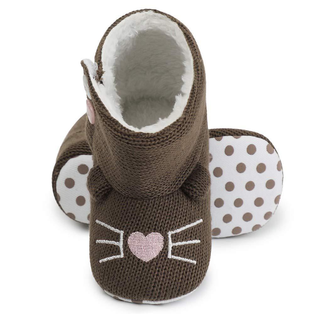 Baulody Newborn Baby Girl Boy Fleece Warm Winter Infant Toddler Snow Boots Shoes
