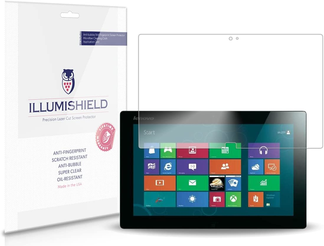 iLLumiShield Screen Protector Compatible with Lenovo IdeaTab Lynx 11.6 inch (K3011)(2-Pack) Clear HD Shield Anti-Bubble and Anti-Fingerprint PET Film