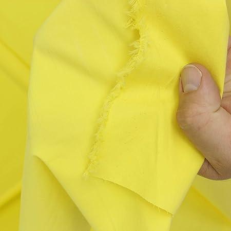 kawenSTOFFE Tela de algodón Amarillo Popelina Ligera Camisa plástico Blusa Tela Tela Tela Tela Tela Tela Tela por Metros: Amazon.es: Hogar
