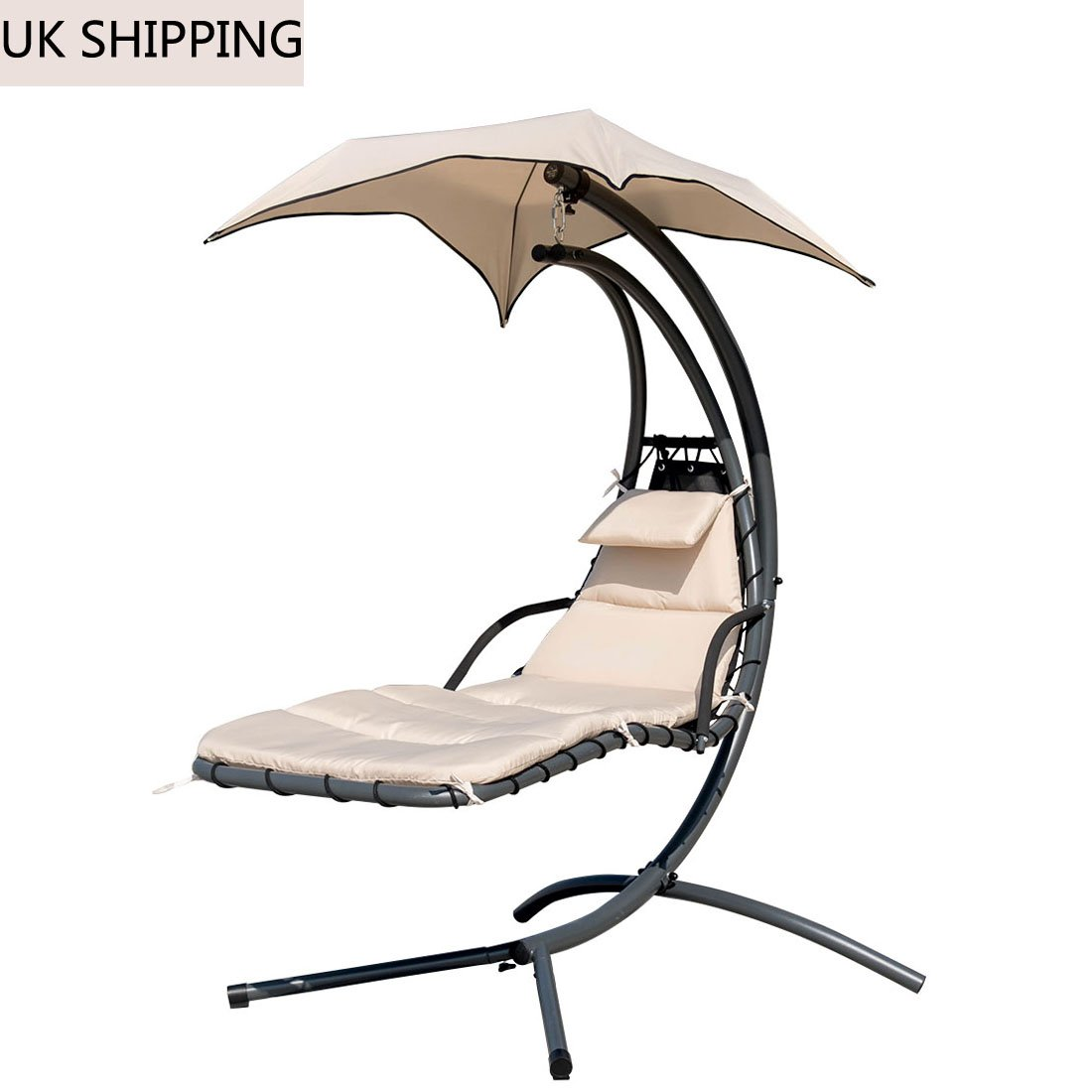 Cool Sun Lounger Hanging Chaise Hammock Swing Chair With Arc Home Remodeling Inspirations Propsscottssportslandcom