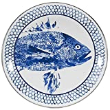 Enamelware - Fish Camp Pattern - 12 Inch Charger Plate