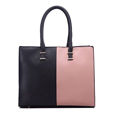 8d6003737a LeahWard Women s Tote Bags College A4 Folder Handbag Nice Great Shoulder  Handbags 319 (BLACK