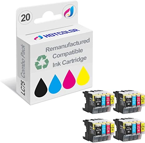 5B 5C 5M 5Y, 20 Pack ZET Remanufactured Ink Cartridge Replacement for Brother LC71 LC73 LC75 XL LC79 XL High Yield Use in MFC-J6510DW MFC-J6710DW MFC-J6910DW MFC-J280W MFC-J425W