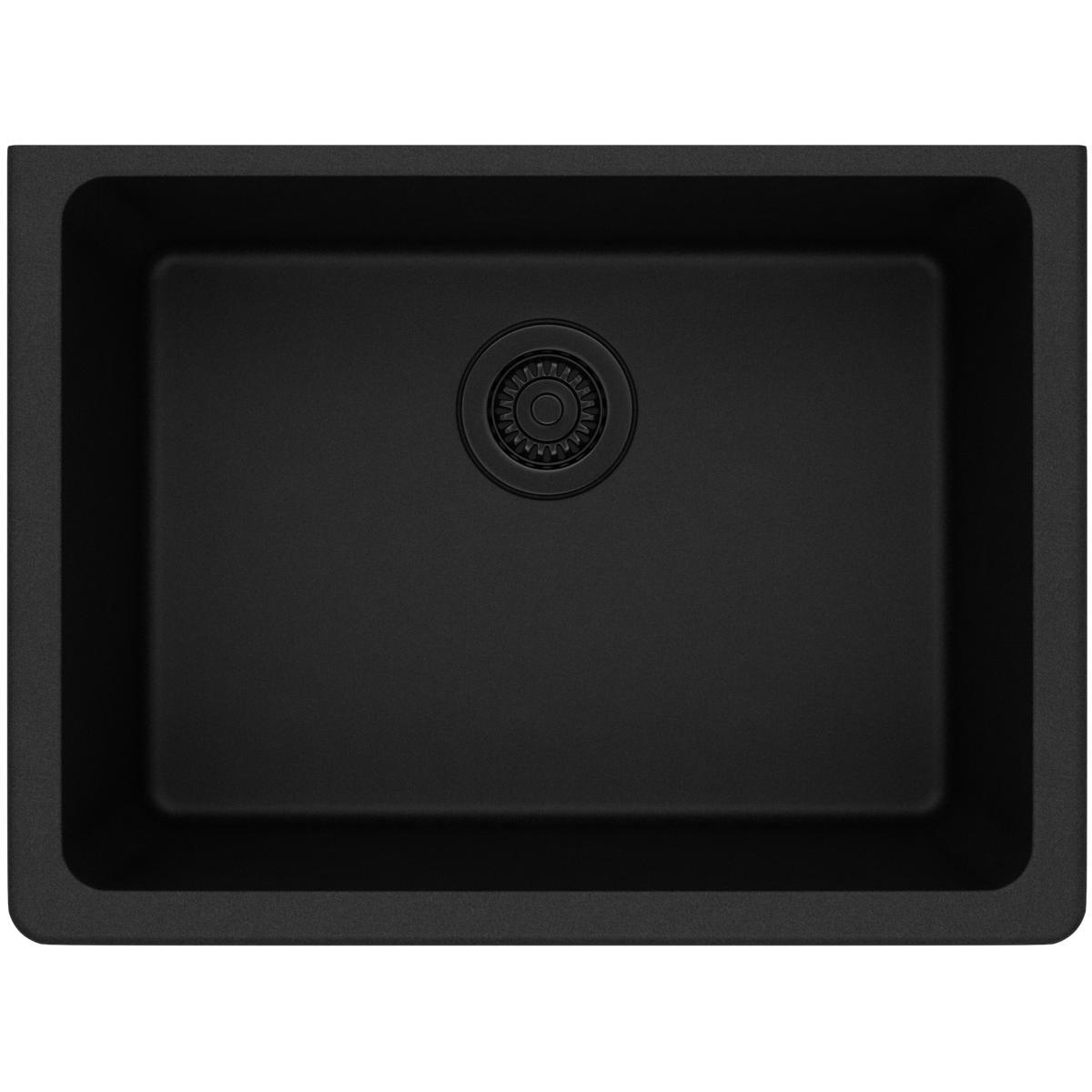 Elkay ELGU2522BK0 Gourmet Quartz Classic Undermount Sink, Black
