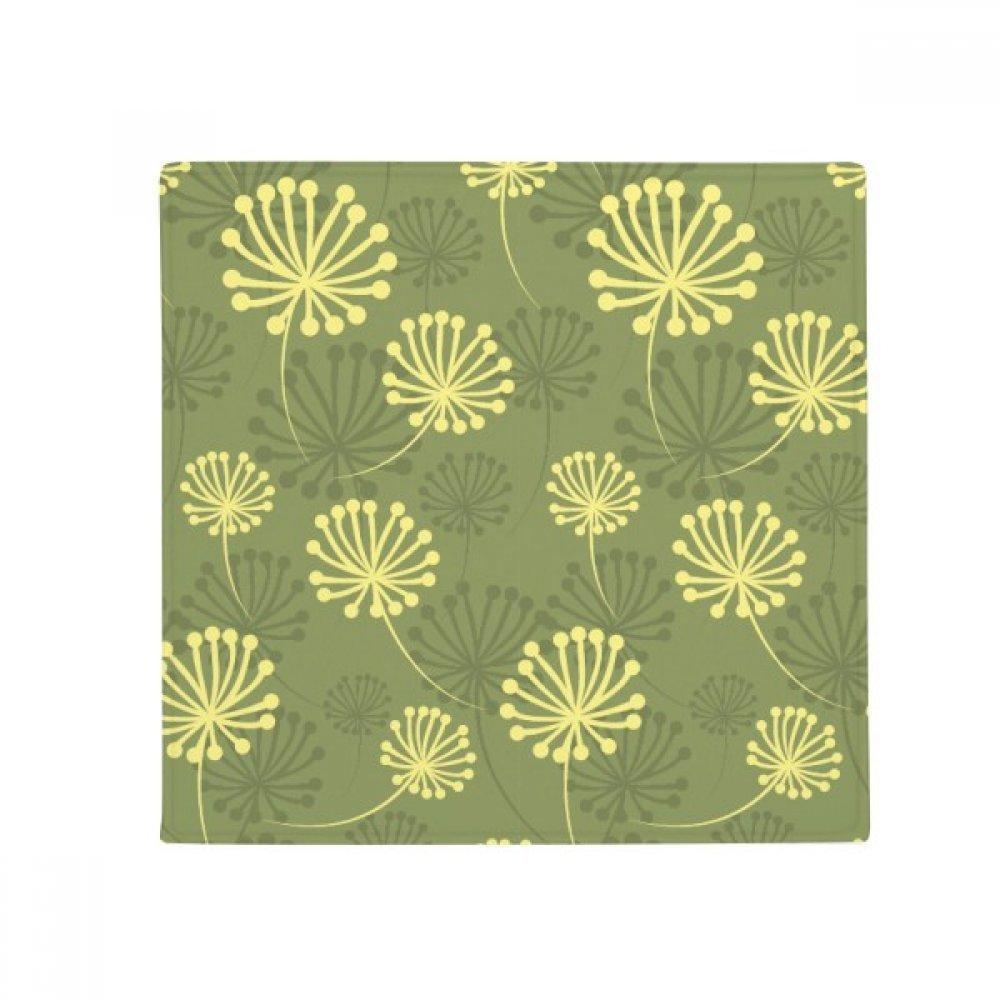 DIYthinker Green Yellow Dandelion Decorative Pattern Anti-Slip Floor Pet Mat Square Home Kitchen Door 80Cm Gift