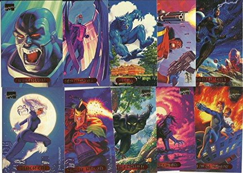 1994 Fleer Marvel Masterpieces Set 140 Card Complete Set ()