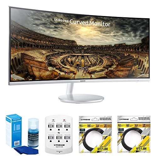 """Samsung 34"""" Grey Curved LED 21:9 3440x1440 Computer Monitor"""