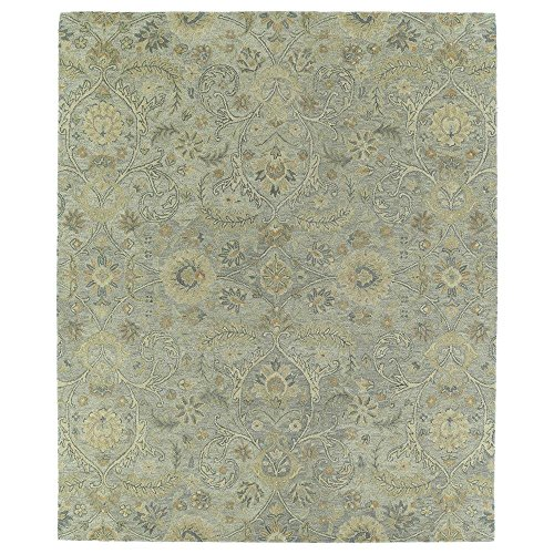Kaleen 3200-77-912 Helena Collection Hand Tufted Area Rug, 9' x 12', Silver