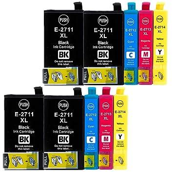 urinks Compatible Epson 27 X L Cartuchos de Tinta Alta Capacidad ...