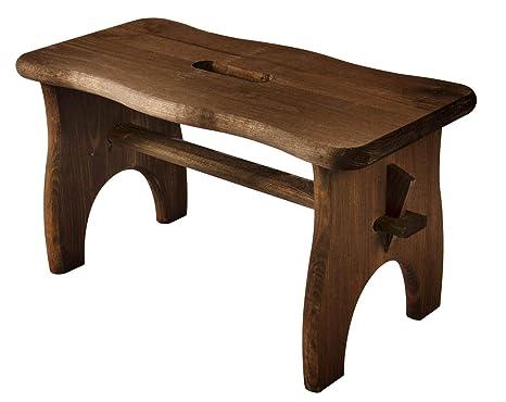 Sgabello legno maxi con bordi arrotondati cm h cm colore