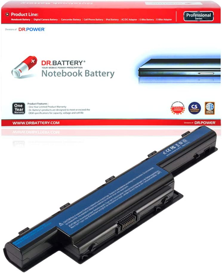 DR. BATTERY AS10D31 Battery Compatible with Acer AS10D51 AS10D56 AS10D75 AS10D81 AS10D61 AS10D41 AS10D73 AS10D71 AS10D3E Aspire 5250 5733z 5750 7741 5733 5755 5253[10.8V/4400mAh/48Wh]