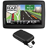 """TomTom VIA 1505M WTE 5"""" Portable Touchscreen Car GPS Navigation Device Lifetime Maps Bundle with Protect and Stow Hard Carry Case"""