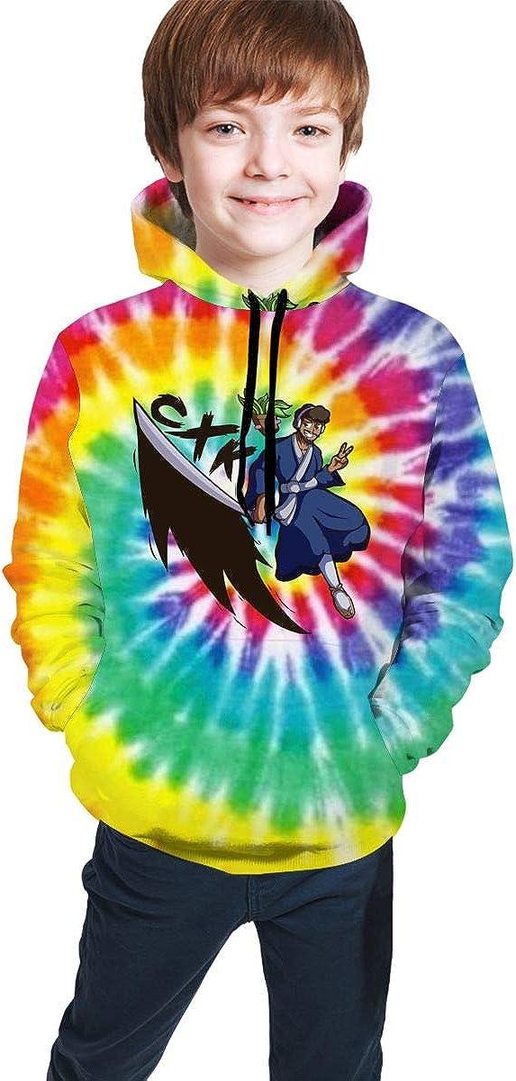 CoryxKenshin Rainbow Tie Dye Boys'and Girls' Teen Hooded