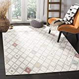 Safavieh Adirondack Collection ADR132C Ivory Multicolored Modern Moroccan Trellis Area Rug (6' x 9')