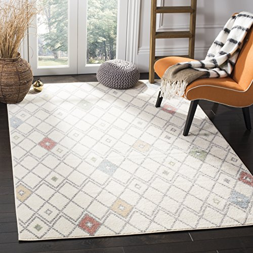 Safavieh Adirondack Collection ADR132C Ivory Multicolored Modern Moroccan Trellis Area Rug 3 x 5