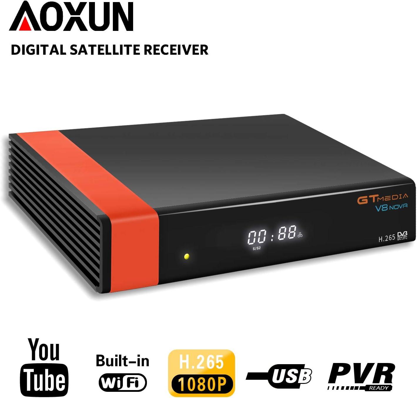 1080P HD DVB-S2 Digital Satellite Receiver Youtube TV Tuner WIFI Key FTA Decoder
