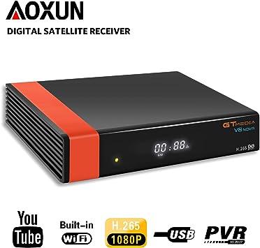 GT MEDIA V8 Nova - Receptor de satélite Digital (DVB-S/S2, con Wi-Fi, Ethernet, HEVC H.265, Full HD 1080P, Compatible con SCART, Youtube PVR CCcam): Amazon.es: Electrónica