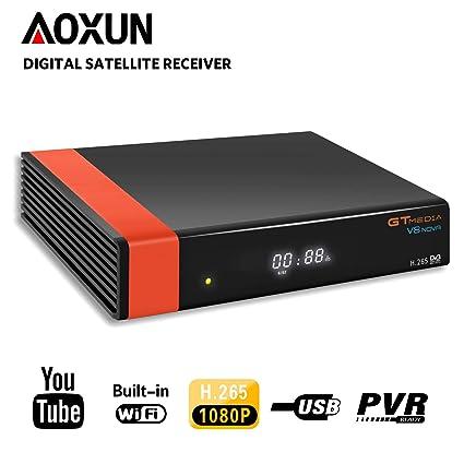 GT Media V8 Nova DVB-S2 Satellite Decoder Digital TV Receiver with Built-in  Wi-Fi/SCART / 1080P Full HD/FTA Support CCcam, PVR Ready, Newcam, YouTube,