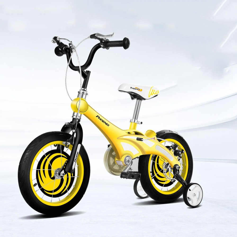 XQ イエロー子供用自転車3-13歳の少年少女マグネシウム合金キッズバイク 子ども用自転車 ( サイズ さいず : Length-115cm ) B07C2F7LR4 Length-115cm Length-115cm