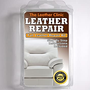 WHITE Leather Sofa U0026 Chair Repair Kit For Tears Holes Scuffs With Colour Dye