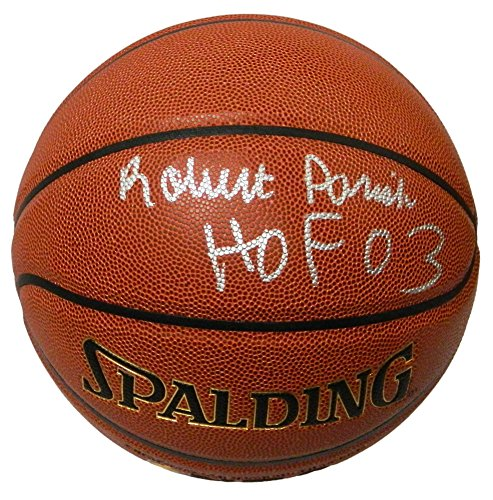- Robert Parish Autographed/Signed Spalding NBA Indoor/Outdoor Basketball w/HOF'03 - Authentic Signature