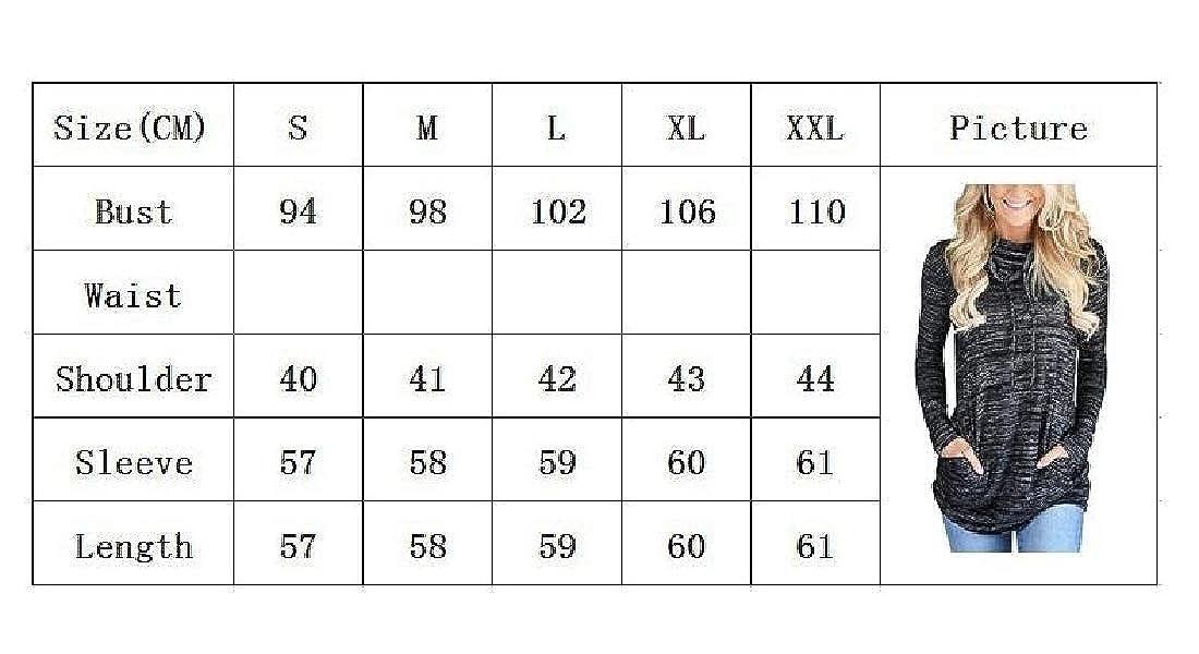YUNY Womens Slim Fitted Baggy Drawstring Heap Collar All-Contest Sweatshirt Black M