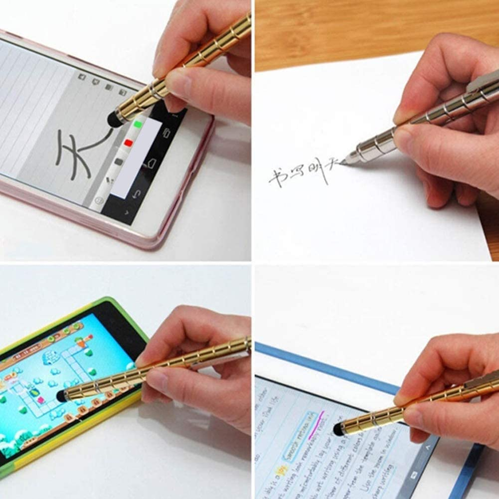 E-House Stylus Pen for Touch Screens Multi-Function Handwriting Touch Capacitive Module Magnetic Gel Pen Stationery Silver