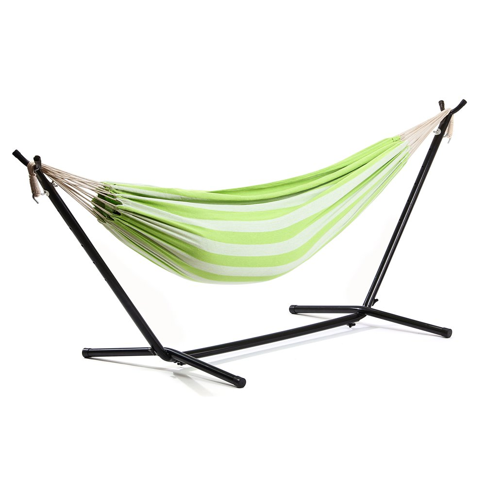 Seatopia Extra Large Double Hammock With Space Saving Steel Stand & Carrying Case
