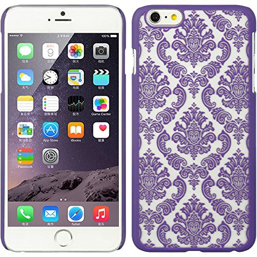 - Shopping_Shop2000® Damask Lace Vintage Urban Ultra Slim Fit Rubberized Coating Plastic Hard Case Cover For iPhone 6 6s Plus 5.5 inch (iphone 6 6s plus 5.5