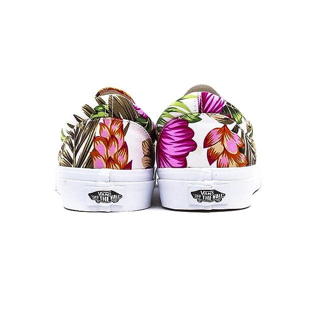 e923f994f9e Vans Classic Slip-On Hawaiian Floral White  Amazon.fr  Chaussures et Sacs