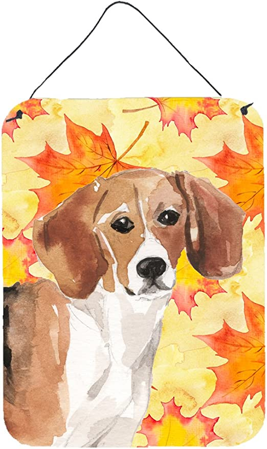 Caroline S Treasures Bb9509ds1216 Beagle Fall Wall Or Door Hanging Prints 12x16 Multicolor Caroline S Treasures Home Kitchen