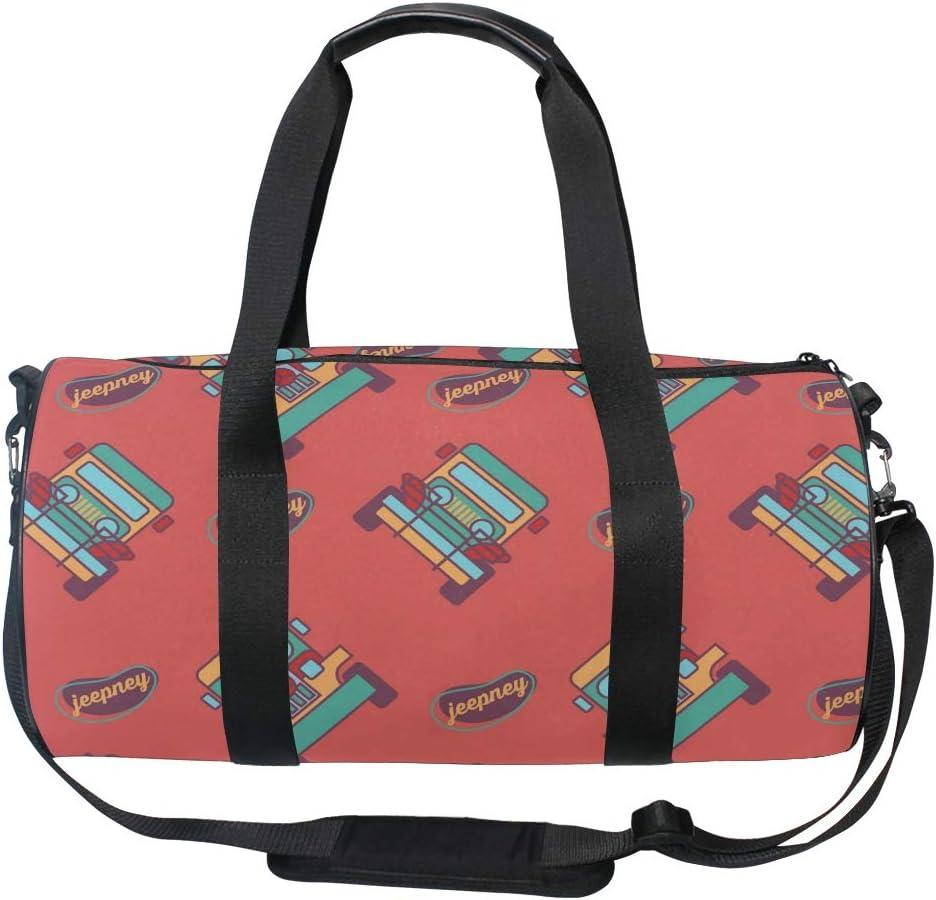 MALPLENA Cool Jeepney Drum gym duffel bag women Travel Bag