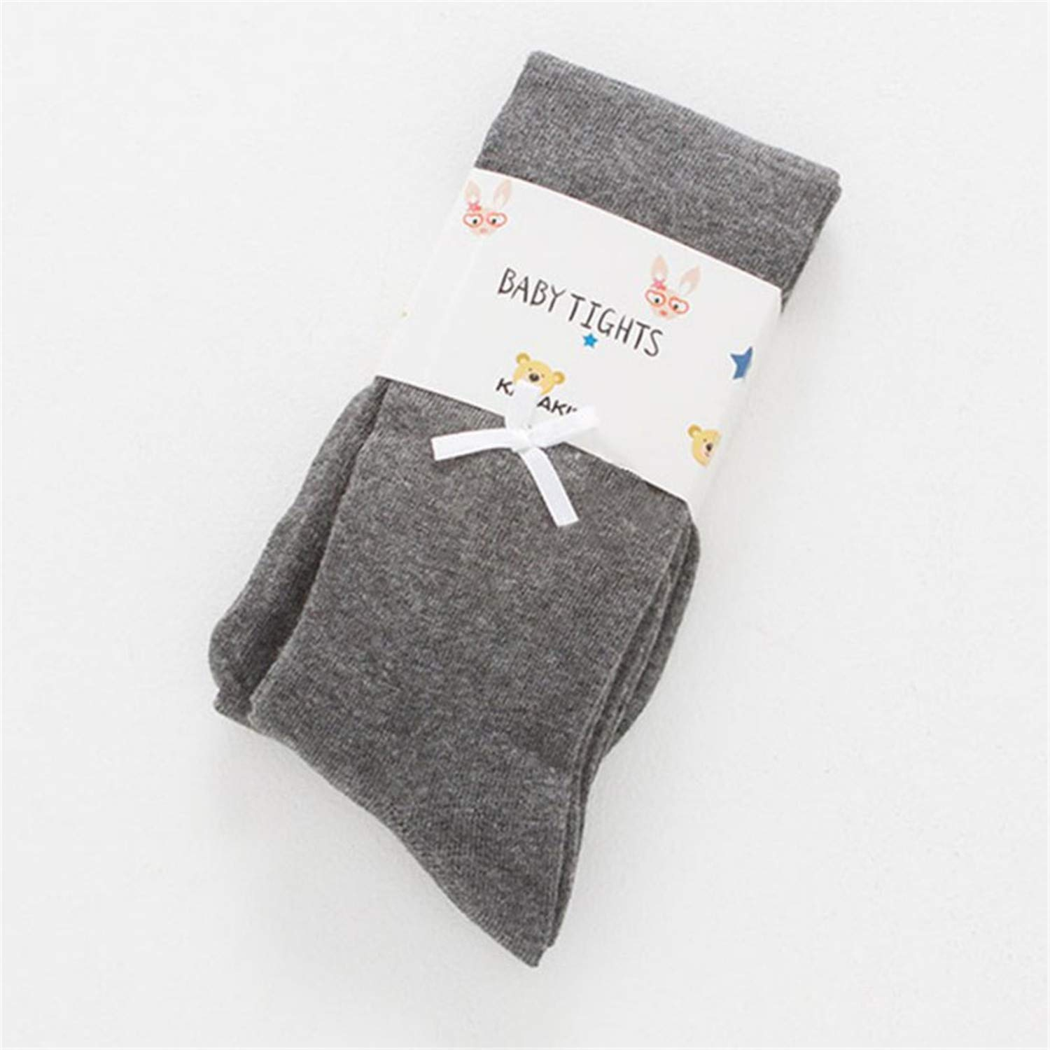 Baby Girls Kids Bow Tights Elastic Winter Warm Pantyhose Solid Soft Cotton