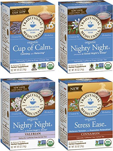 Traditional Medicinals Relaxation Tea 4 Flavor Variety Pack (Pack of ()