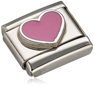 Italian Style Charms 330202/18 Nomination Composable Women s Charm Heart-Stainless Steel-Enamel Charms