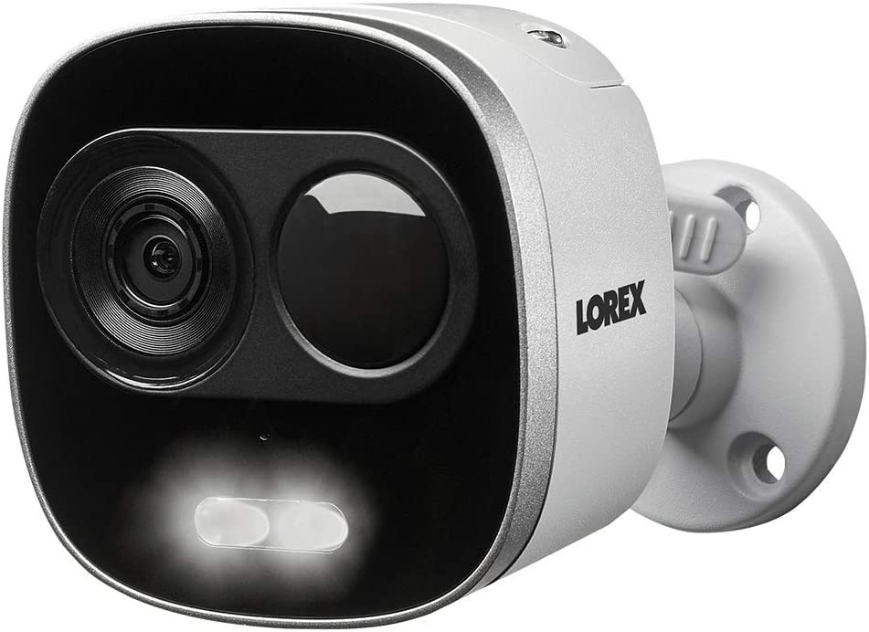 Lorex Weatherproof Indoor/Outdoor 4K Ultra HD Active Deterrence Security Camera, HD Camera w/Long Range Color Night Vision, 2- Way Talk, Motion Activated Lights, and Remote-Triggered Sirens