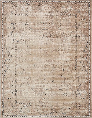 Antique 8x10 Area (Texture Modern Carved Vintage Traditional Look & Feel Beige 8' x 10' Ephesus Collection Area Rug)