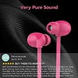 Karakao H1 Bluetooth Headphones 4.1 Wireless Runing Earbuds Workout Earphones with Mic for iPhone and Android - Pink Headset