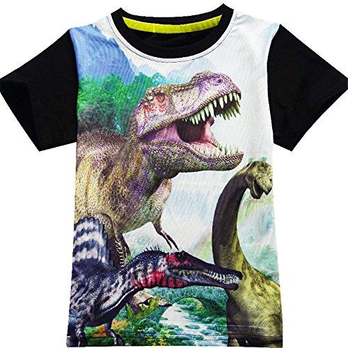40b73b3a8 Boys Shirts Toddler T-Rex Short Sleeve T-Shirts, Dinosaur Tops Tee Shirt