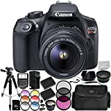 Canon EOS Rebel T6 DSLR Camera with EF-S 18-55mm f/3.5-5.6 III Lens 15PC Accessory Bundle - Includes 32GB SD Memory Card + .43x Professional Wide Angle Lens + More (Renewed)