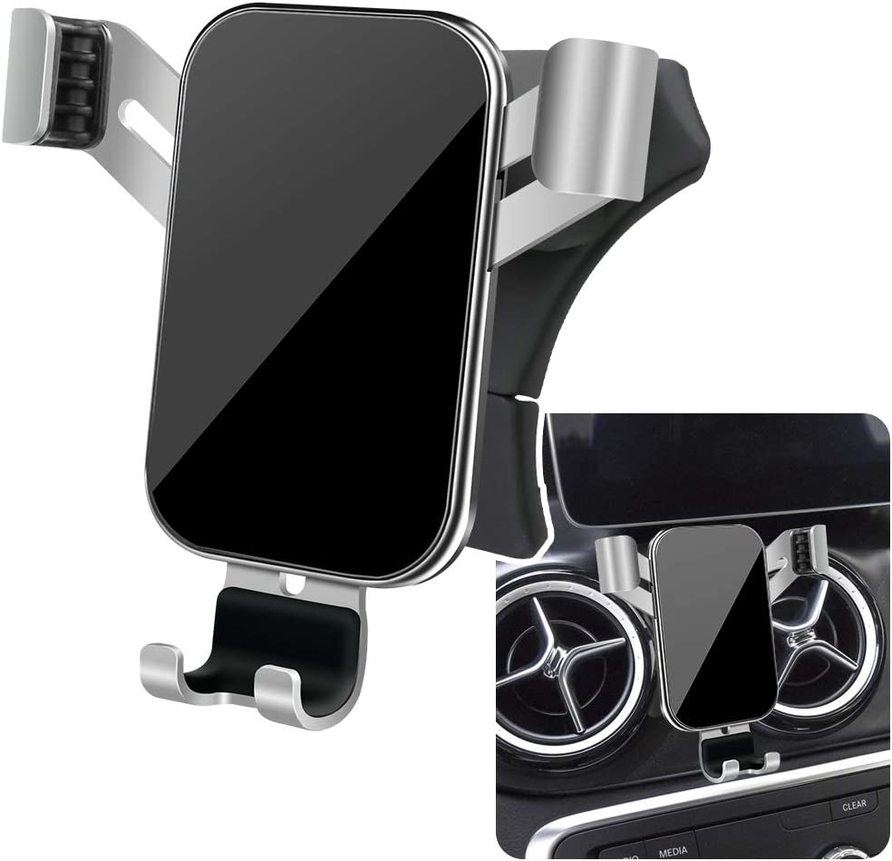 Auto Accessories Interior Decoration Phone Mount Big Phones with Case Friendly LUNQIN Car Phone Holder for 2015-2020 Mercedes Benz GLA-Class gla200 220d 250 260 and 2014-2019 CLA cla200 220 260
