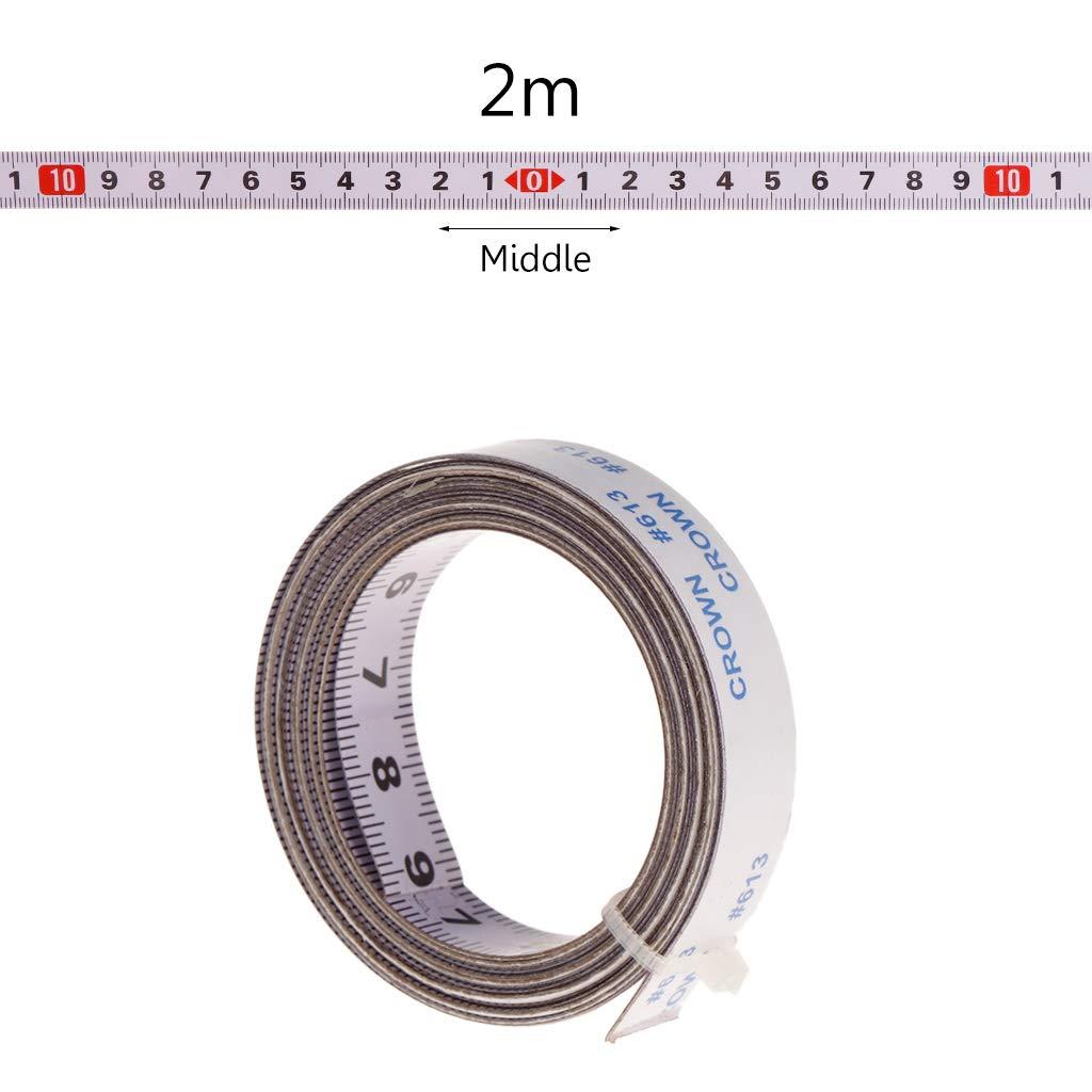 Cuigu Scale Maß band Gehrungssä ge Maß band 1M / 2M / 3M / 5M Rollenband Selbstklebendes Maß band Rü ckenlehne Metrisch Stahl Gehrungsband Scharnierband (3M, Mitte)